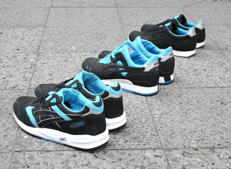 Image de la collaboration noire Asics x Solebox