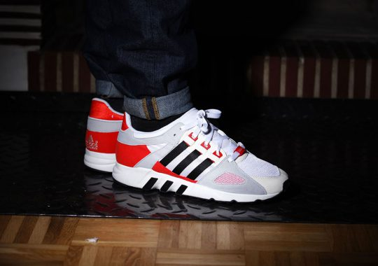 Adidas equipment guidance blanche et rouge