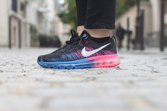 Nike Air Max Flyknit Bleu Rose