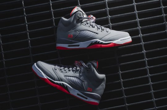 Air Jordan V Wolf Grey hot lava
