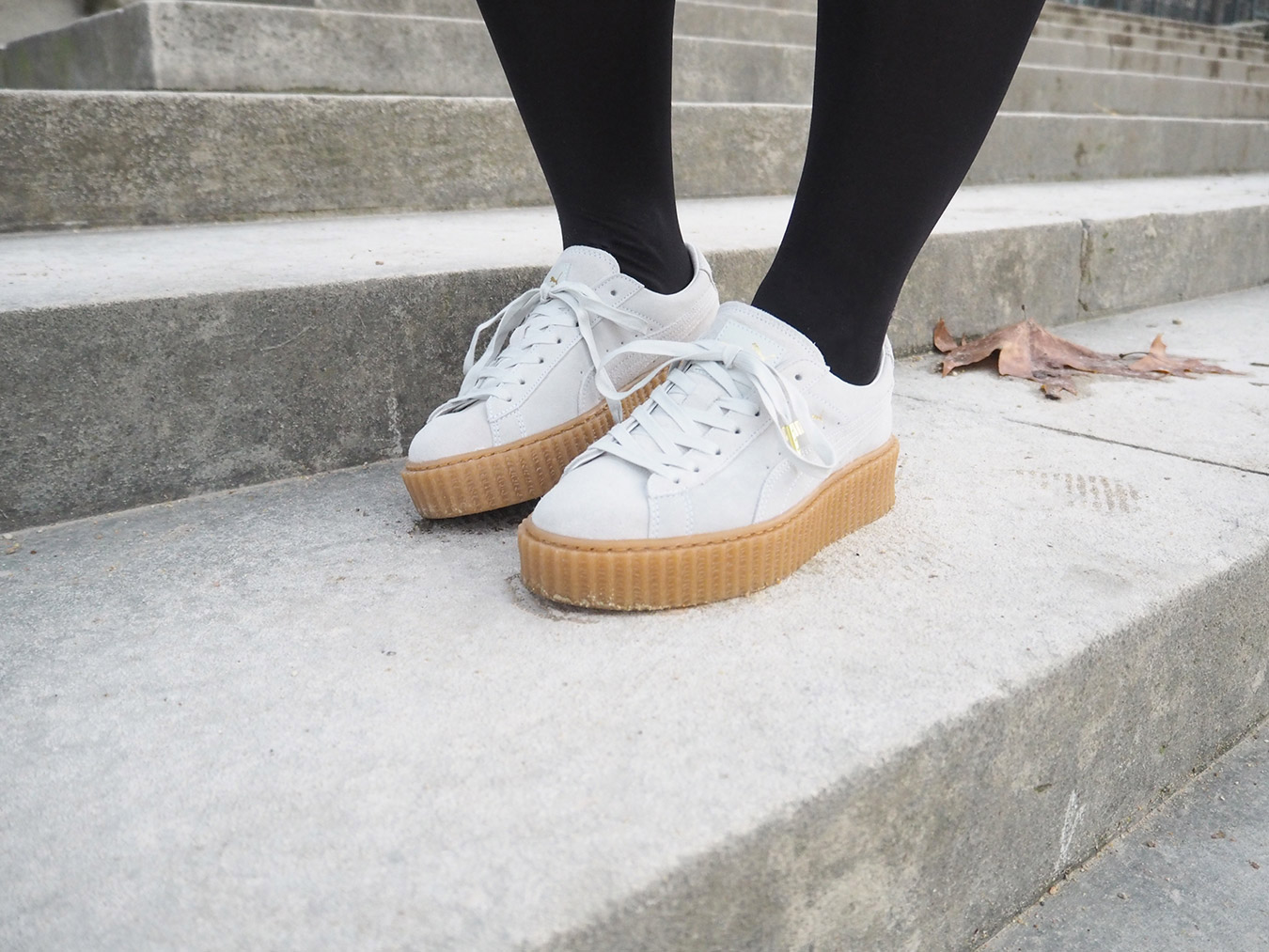 Puma Creepers Blanche Et Beige