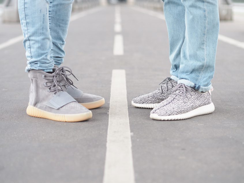 WOMFT Yeezy Boost 750 Grey Gum et 350 Turtle Dove