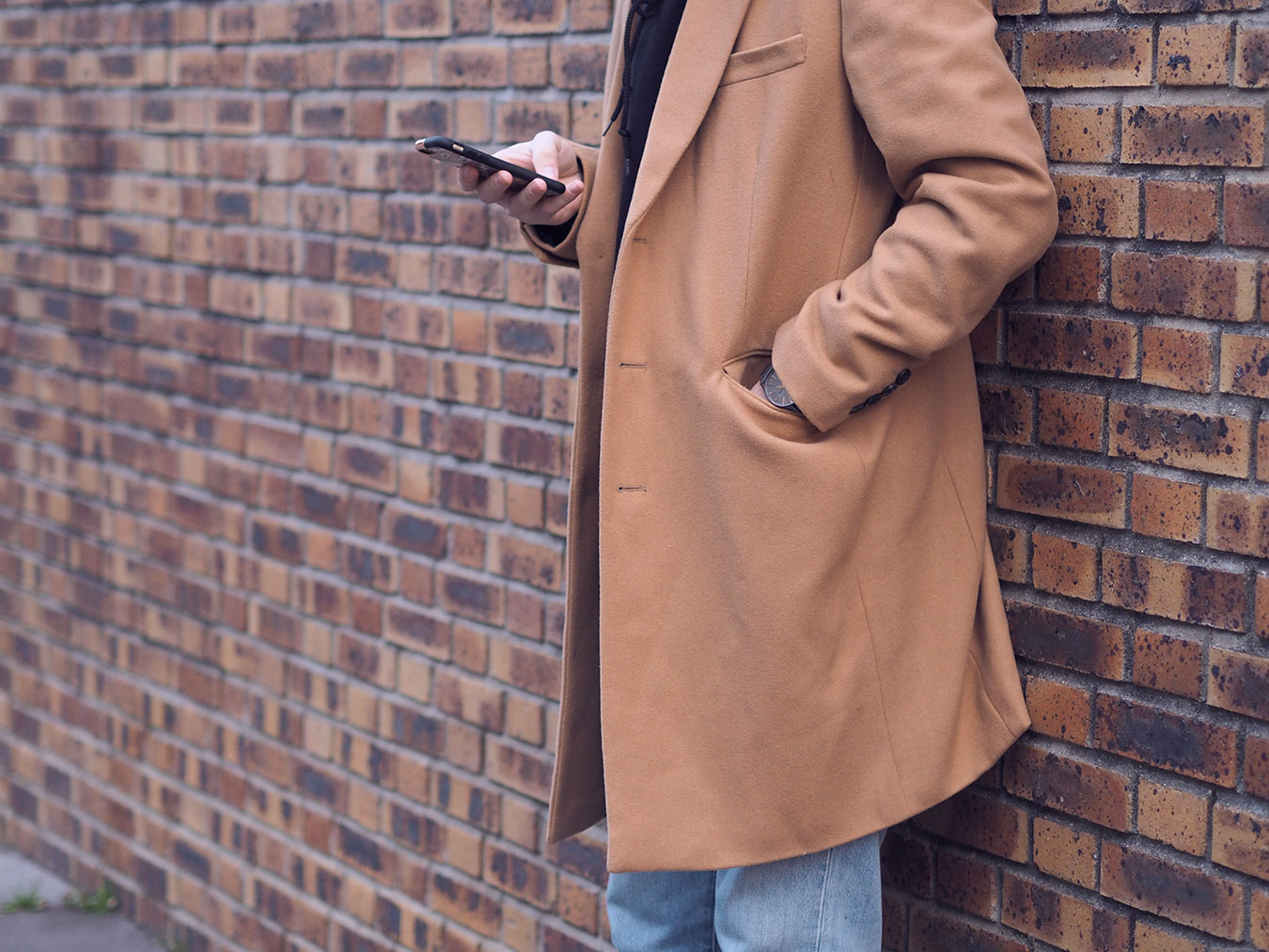 Manteau ASOS Marron beige long