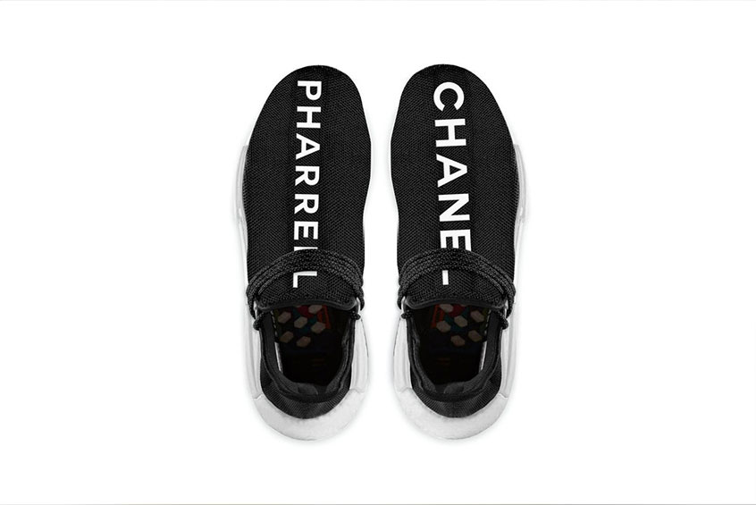the latest a4658 54540 Pharrell Williams x Chanel x adidas NMD Human Race Black : Release date,  Preis & Infos