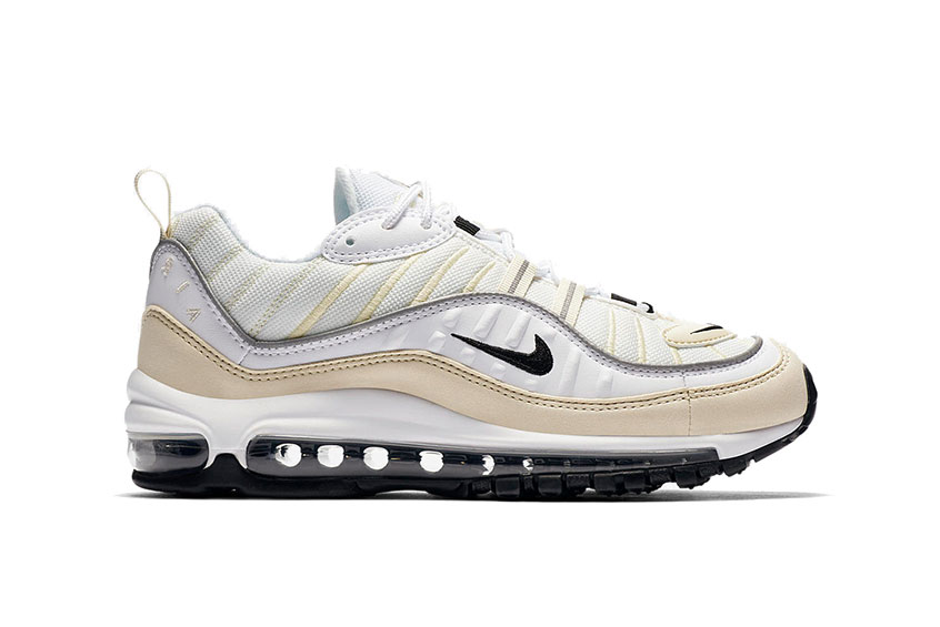 How to buy the Nike Air Max 98 White Fossil Womens   e3894dc71