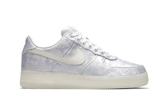 CLOT x Nike Air Force 1 White release