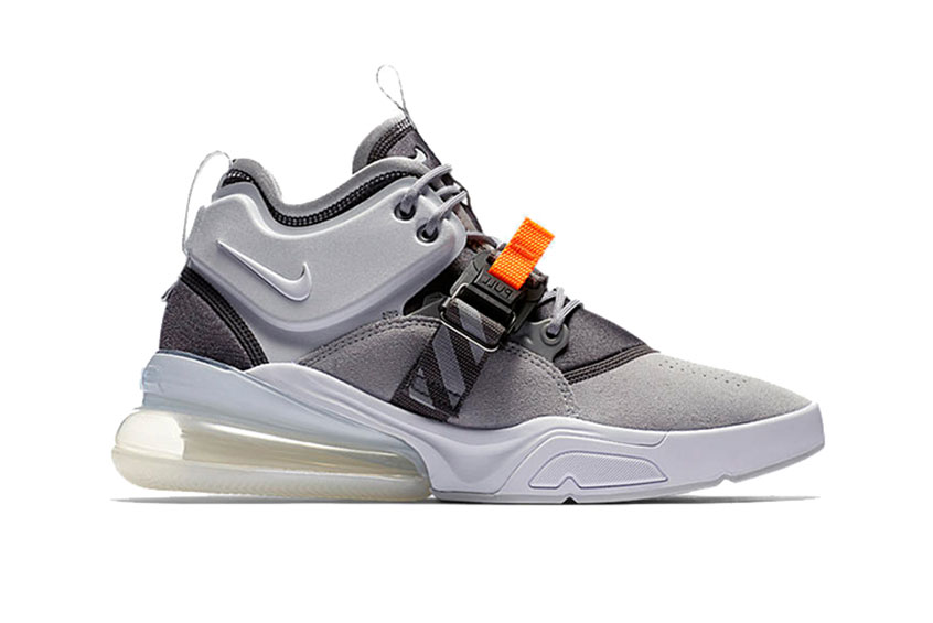 designer fashion 292c6 fe9ba Nike Air Force 270 Grey : Release date, Price & Info