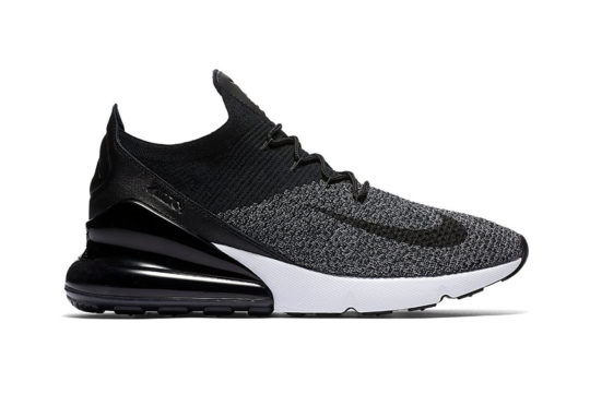 Nike Air Max 270 Flyknit Black White