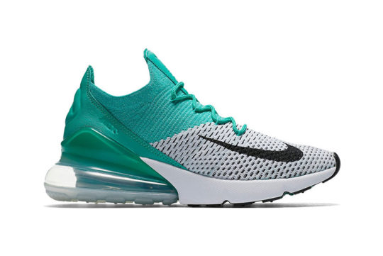 Nike Air Max 270 Flyknit Emerald Womens