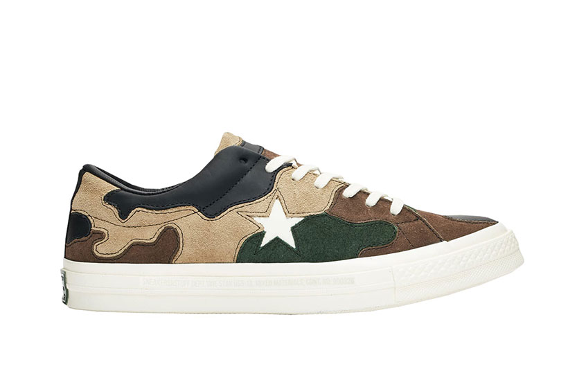 Sneakersnstuff x Converse One Star Green Camo