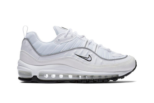 Nike Air Max 98 White Reflective Silver Womens