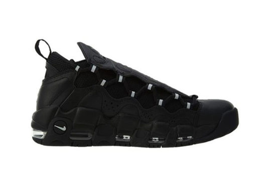 Nike Air More Money Black Metallic silver
