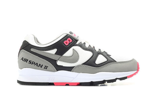 Nike Air Span II Black Solar Red Womens