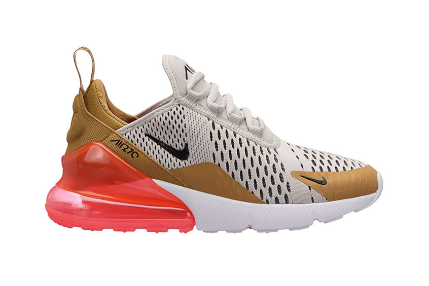 b0d3c0aa6b Nike Air Max 270 Flat Gold Womens : Release date, Price & Info
