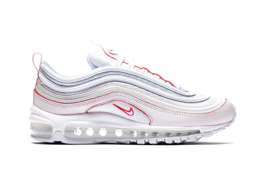 Air Max 97 Triple White (Rainbow Borders)