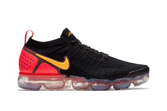 Nike Air VaporMax 2.0 Flyknit Black Laser Orange Total Crimson