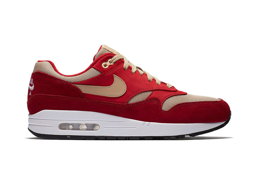 6f56062cbe41a atmos x Nike Air Max 1 Curry Red   Release date
