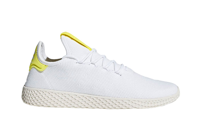 Pharrell x adidas Tennis Hu White Yellow