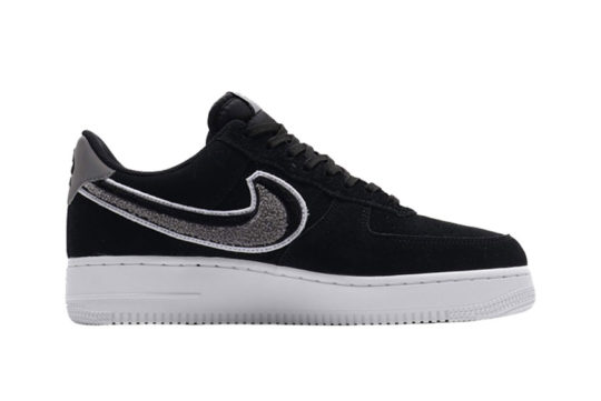 Nike Air Force 1 07 LV8 Chenille Swoosh Black
