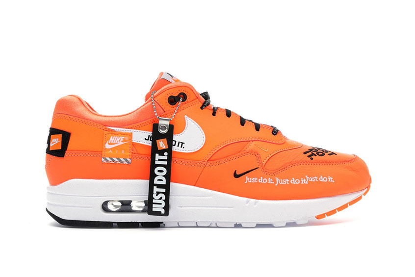 air max 1 nike just do it orange