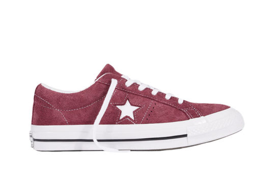 Converse One Star Premium Suede Bordeaux White