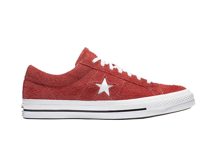 Converse One Star Premium Suede Red White