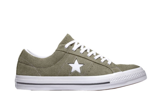 Converse One Star Vintage Suede Low Top Khaki White