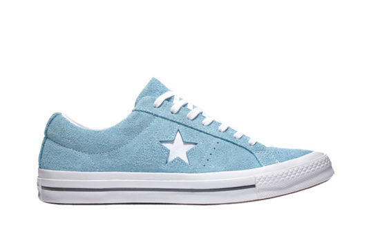 Converse One Star Vintage Suede Low Top Light Blue White