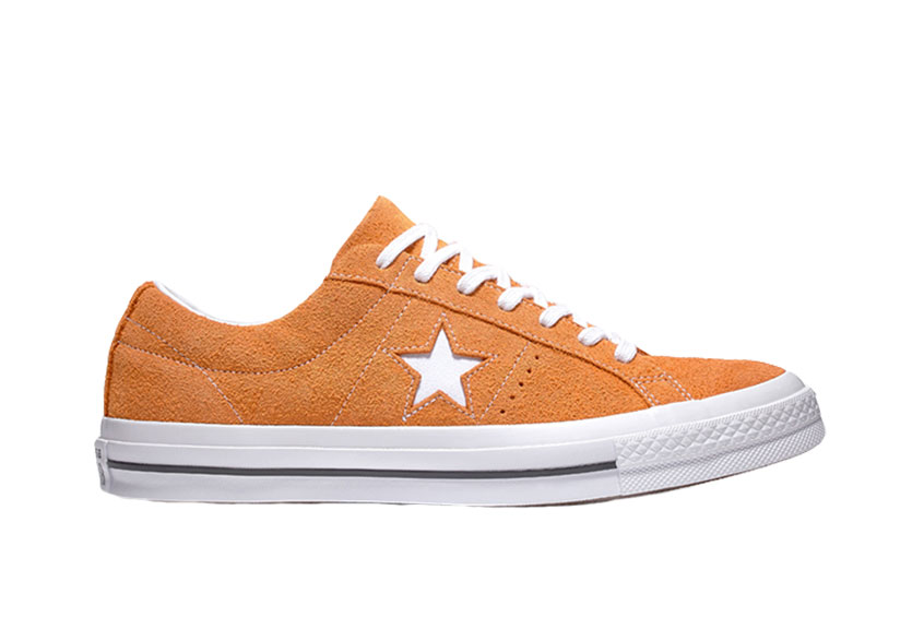 Converse One Star Vintage Suede Low Top Orange White