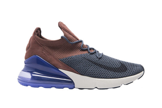 Nike Air Max 270 Flyknit Blue Red Multi