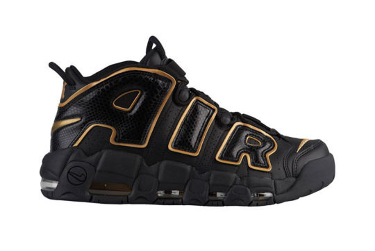 Nike Air More Uptempo France Black Gold
