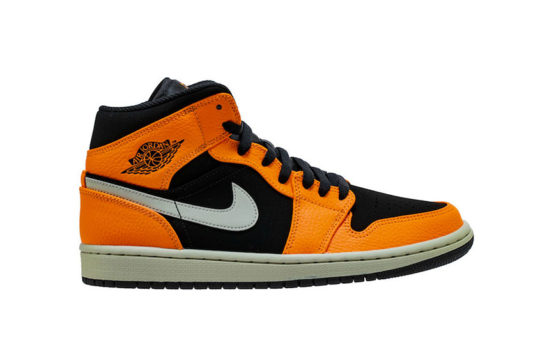 Jordan 1 Mid Black Orange 554724-062