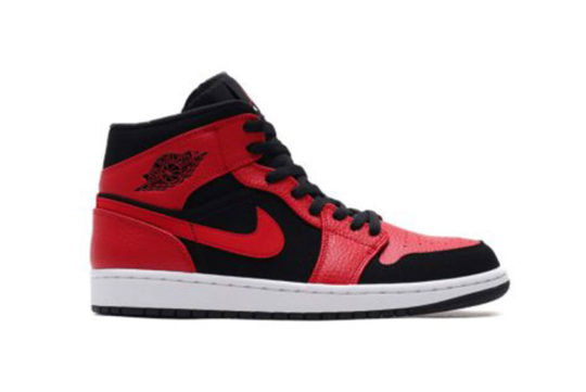 Jordan 1 Mid Black Red 554724-054