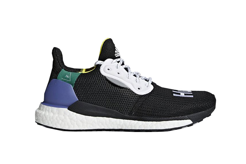 Pharell Williams adidas Solar HU Glide Black Multi Womens CG6736