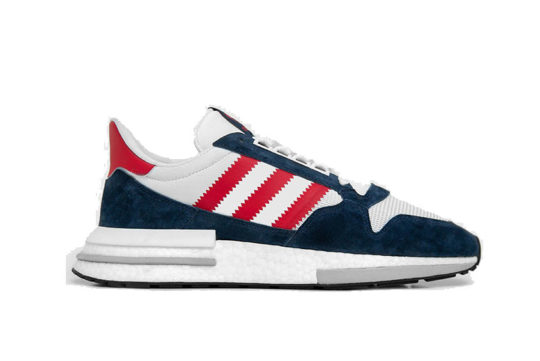 size? Exclusive x adidas ZX 500 Boost Navy Multi F36912