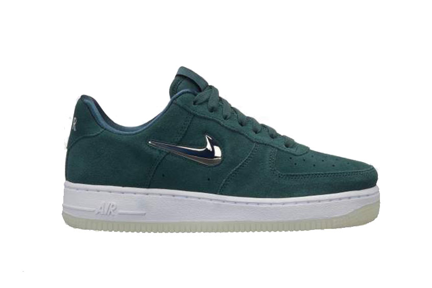 Nike Air Force 1 07 Premium LX Green Silver Womens AO3814-300