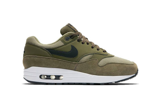 Nike Air Max 1 Olive White Womens 319986-304