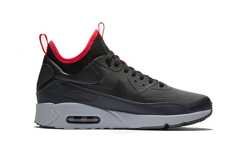 Nike Air Max 90 Ultra Mid Winter Grey Red : Release date, Price & Info