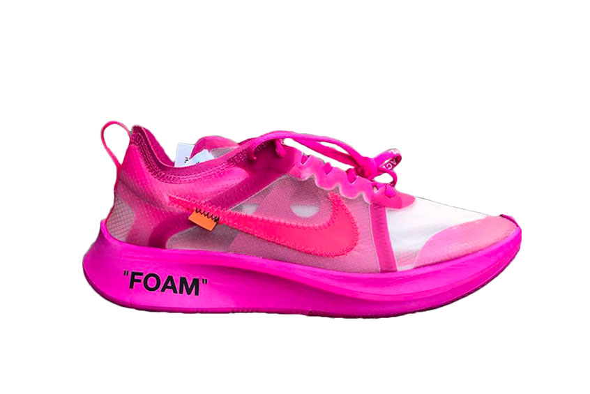 Off White x Nike Zoom Fly SP Tulip Pink : Release date, Price & Info