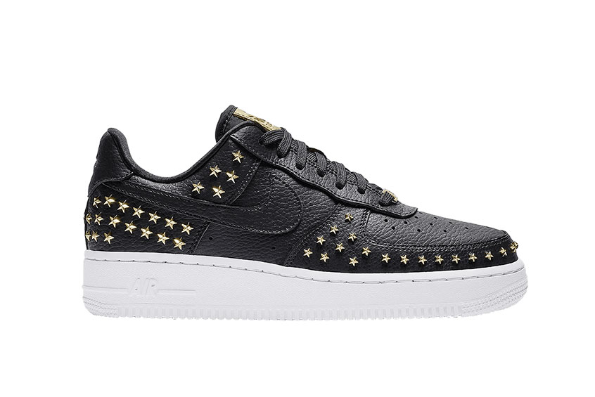 Nike Air Force 1 Black Gold Star Womens Release Date Price Info