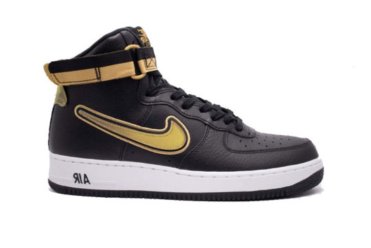 Nike Air Force 1 High 07 LV8 Sport Black Metallic Gold AV3938-001