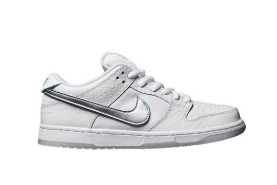 Diamond Supply Co. x Nike SB Dunk Low White bv1310-100