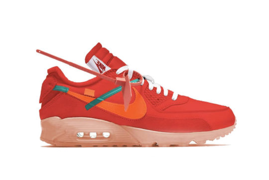Off-White x Nike Air Max 90 University Red aa7293-600
