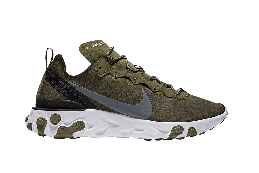 1accb5bcfb Nike React Element 55 Medium Olive : Release date, Price & Info