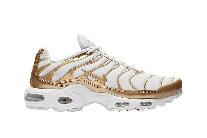 Release Date: Nike Air Max Plus Metallic Gold •