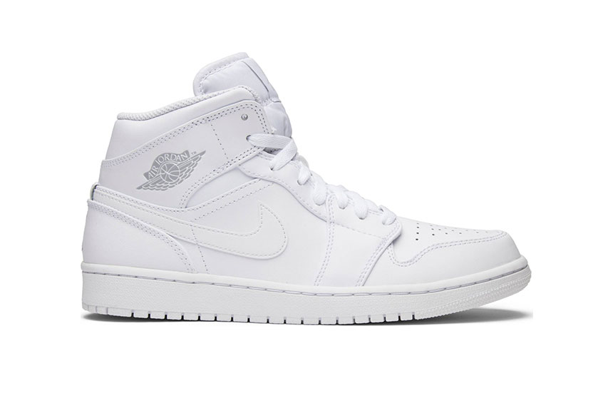 Jordan 1 Mid Triple White 554724-104