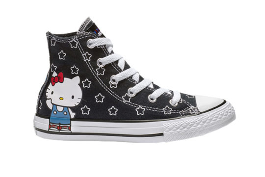 Converse x Hello Kitty Chuck Taylor All Star High Top Black White 163919f