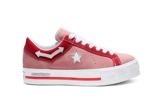 Converse x MadeMe One Star Platform Pink Red 563730c