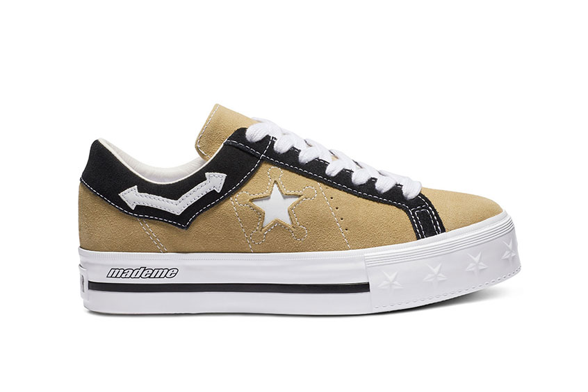 81a1381168ed How to buy the Converse x MadeMe One Star Platform Wood Black