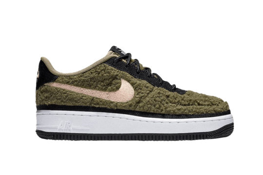 Nike Air Force 1 Low Shearling GS Olive av6673-300